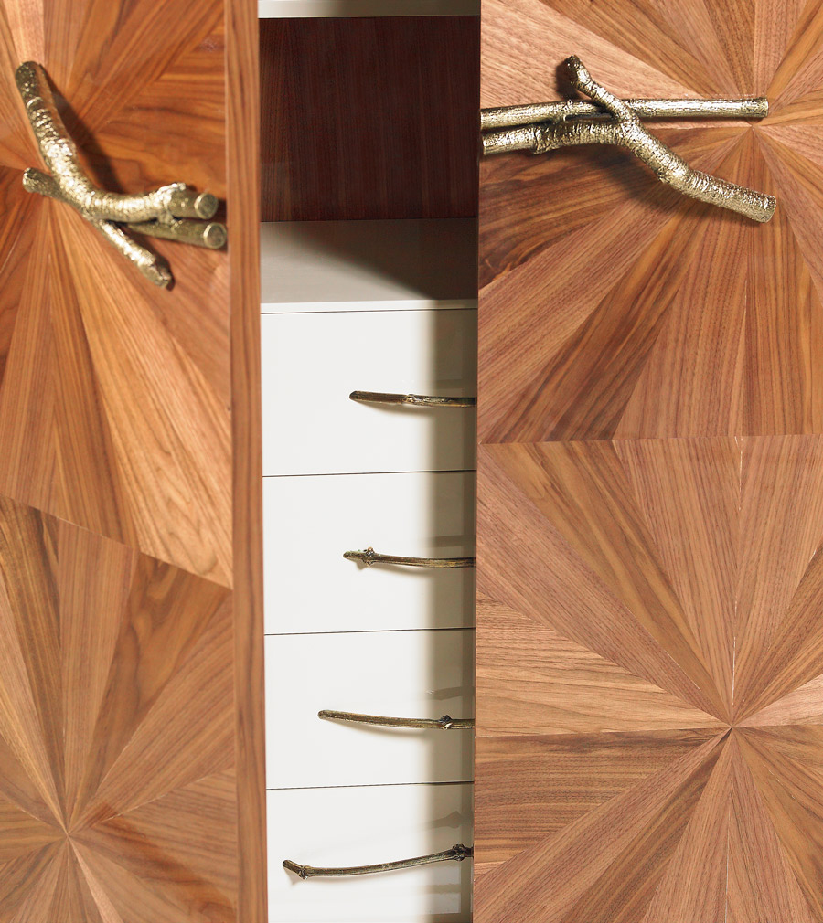 Detail of the Walnut | Bar Cabinet