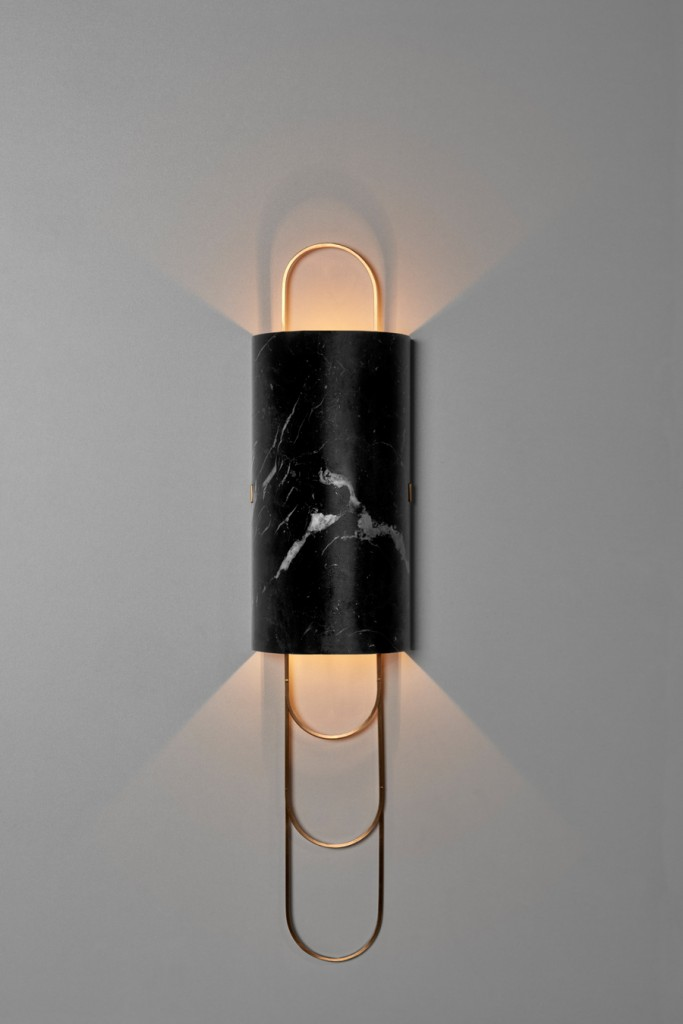 Niagara | Wall Lamp in Negro Marquina.
