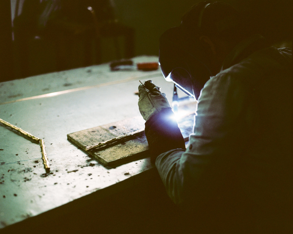 The Embrace | Side Table being crafted by our artisans.