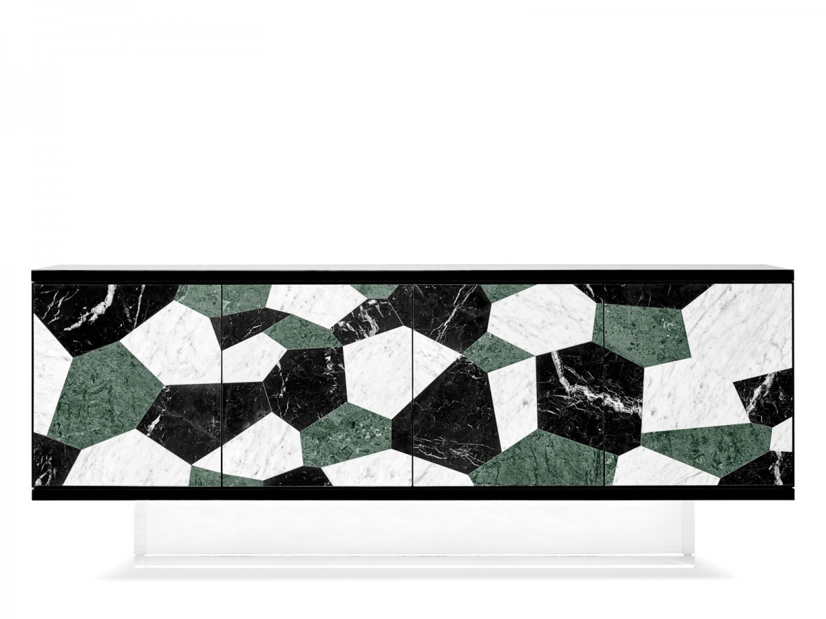 Ginger & Jagger's Fractal | Sideboard with marble marquetry.
