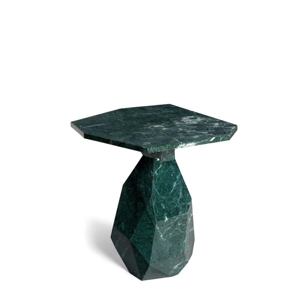 Rock | Side Table, in Guatemala Green
