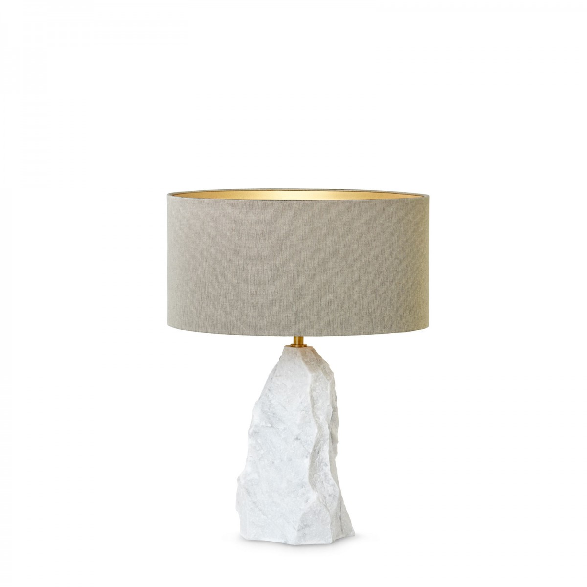 Ginger & Jagger's new Pico | Table Lamp, handcarved in marble.