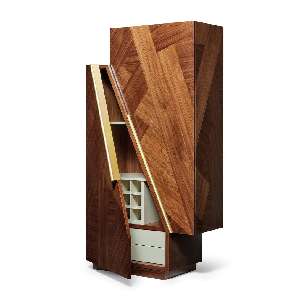 The interior of the Meridiano Bar Cabinet.