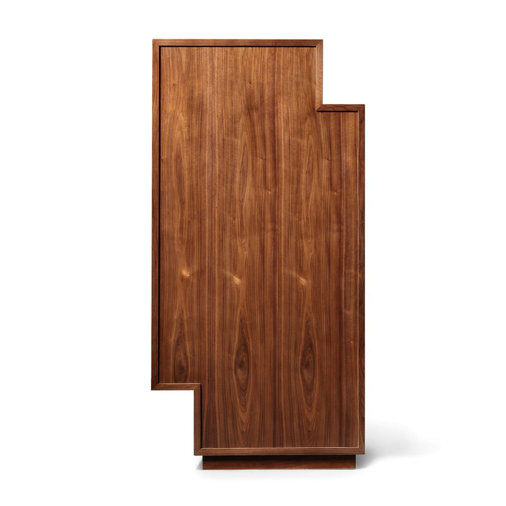 The back of the Meridiano Bar Cabinet.