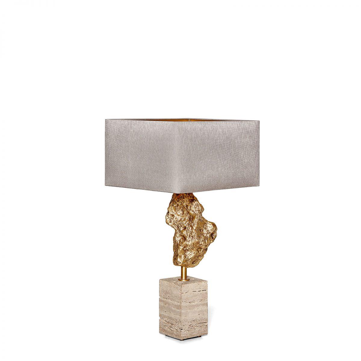 Magma Table Lamp, with the Medium rectangular lampshade